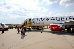Austrian Airlines Embraer 195 (A. Wee) Tags: austrianairlines austrian 奥地利航空 vienna 维也纳 airport 机场 vie austria 奥地利 staralliance