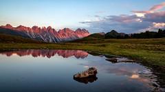 Sunset At Salfeins (galvanol) Tags: axams landscape olivergalvan alpine nature austria mountains alpinepasture clouds bluesky summer bluehour summermood salfeinslake sunset galvanol alpsintyrol senderstal