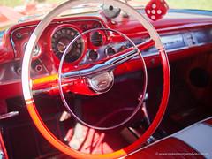 Vintage car show 18 Porthcawl 20180804_264 (Mooganic) Tags: vintage classic car vehicle porthcawl 2018 cadillac interior red steering wheel