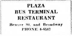 Plaza (bus) terminal restaurant  Beaver and broadway  1932 (albany group archive) Tags: 1930s old albany ny vintage photos picture photo photograph history historic historical