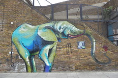 Falko graffiti, Stockwell (duncan) Tags: graffiti stockwell brixton falko elephant