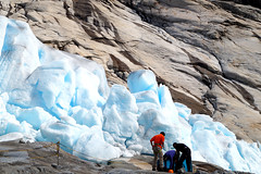 Glacier hiking at Nigardsbreen (Norway) (cherac) Tags: norwegen gletscher nigardsbreen glacier hiking