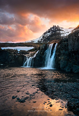 Iceland light sunset somewhere 7R26712 (joana dueñas) Tags: iceland artic northatlantic sunset seascape clouds winter waterfall joanadueñas photofeeling