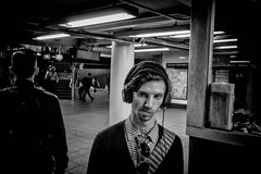 Music To My Ears. (rockerlan) Tags: sony rx100 music to my ears subway trains new york nyc manhattan earphones candid photo people passing by urban lifestyles