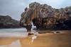 Playa Cuevas del Mar, Asturias (Merly_gon) Tags: reflejos nubes azul árboles cielo arena agua mar rocas playacuevasdelmar asturias playa españa