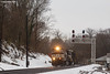 Snow Bank (nrvtrains) Tags: christiansburgdistrict 234 cambriast pelton christiansburg cambria overcast intermodal signals norfolksouthern snow virginia unitedstates us
