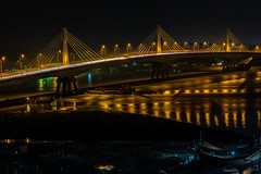 Shah Amanat Bridge on the River Karnaphuli, Chittagong. (CuriousClickZ) Tags: bridge street light city night river cityscape skyline illuminated suspension dusk karnaphuli beautiful