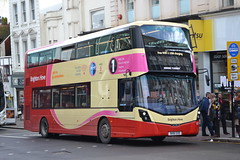 Brighton & Hove 821 SK16GXD (Will Swain) Tags: brighton 31st january 2018 west sussex south coast east southern city centre bus buses transport travel uk britain vehicle vehicles county country england english goahead group hove 821 sk16gxd