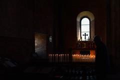 """DSC_5369_4486- Devozione- Devotion. Abbazia """"Sacra di San Michele"""" - Piemonte - (angelo appoloni) Tags: piemonte sacra di san michele interno chiesa candele accese per devozione atmosfera mistica piedmont church interior lit candles for devotion mystic atmosphere"""