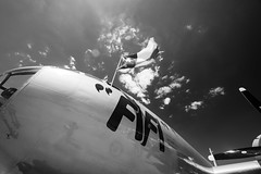 FiFi (ISP Bruno Laplante) Tags: boeing b29 superfortress super fortress war plane warbird wwii old vintage us air force sky clouds fifi bw black white flag ameriva american star commemorative