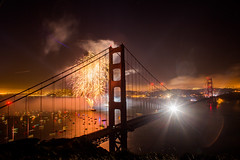 And Bombs Bursting in Air (Thomas Hawk) Tags: 75thbirthdaygoldengatebridge america batteryspencer california goldengatebridge marin marinheadlands sanfrancisco usa unitedstates unitedstatesofamerica bridge fireworks millvalley us fav10 fav25 fav50 fav100