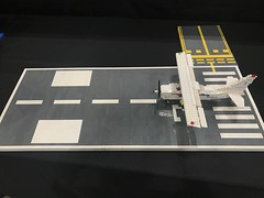 Runway 27 (TheMachine27) Tags: lego moc brick plane airplane flying skyhawk cessna 172 cessna172 prop runway runway27 taxiway snot aviation airport