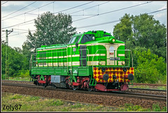M40 114 (Zoly060-DA) Tags: hungary cegled city country m40 class hungarian diesel locomotive bo historycal green red yellow white blue lines rails railway engine number 114 ganz mavag 1963 1970 pupos original livery paint scheme