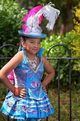 Bolivian dress - Leicester Caribbean Carnival (2018) (Nina_Ali) Tags: leicestercaribbeancarnival2018 boliviandress girl leicestercarnival august2018 victoriapark streetphotography celebration