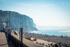 A look at the cliffs of Dieppe.