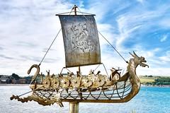 Stonehaven - Aberdeenshire Scotland (DanoAberdeen) Tags: dragon vikingship vikings metalsculpture metal manmade art recycled metalart seascape salmon cod haddock scallops stonehaven bay harbour aberdeenshire playa plage candid amateur danoaberdeen stonehavenbay stonehavenharbour 2018 nikond750 highlands scottishhighlands bonnie bonnyscotland aberdeen fishingtown cowie blue bluesky northeastscotland fishing town kincardine auldtoon stoney duniness geotagged seafarers sailor welded welding weld urbanart publicart stonehavenbeach autumn summer winter spring