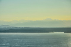 Summer Vibes Above Seattle 7 (C.M. Keiner) Tags: seattle washington usa city cityscape urban skyline architecture mountains cascades mount rainier columbia center skydeck summer sunset skyscrapers elliott bay puget sound olympic national park