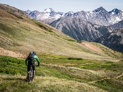 The Deer Pass descent (Jonathan Teapot) Tags: panasonicgx1 chilcotins deerpass lornapass windypass eldoradobasin panasonic45150mmf40f56g panasonic20mmf17 mountainbiking backcountry tyax tyaxadventures hummingbirdlake guncreek