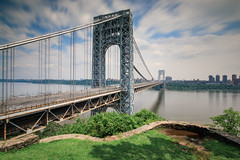 George Washington Bridge (Jemlnlx) Tags: canon eos 5d mark iv 4 5div 5d4 ef 1635mm f4 l is usm new york city ny state nys nyc jersey nj fort lee historic park gwb george washington bridge tiffen graduated neutral density filter bw 30 10stop nd long exposure