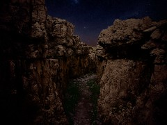 WWI mountain trench (Michele Grazia) Tags: dolomites mountains pustertal war night sky stars