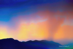 Digital Pastel Drawing of Rain at Sunset in Coconino National Forest by Charles W. Bailey, Jr. (Charles W. Bailey, Jr., Digital Artist) Tags: rain sunset mountains coconinonationalforest sedona arizona usa photoshop photomanipulation topaz topazlabs topazdejpeg topazdenoise topazimpression2 topazrestyle luminar2018 topazdetail drawing pastel pasteldrawing art fineart visualarts digitalart artist digitalartist charleswbaileyjr