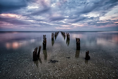 Abandoned (tonylimphotography) Tags: ultrawide cloudscape jetty xt2 fujifilm sunset littlestopper leefilter longexposure australia victoria cliftonspring