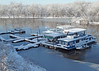 Snowy Slough (DewCon) Tags: houseboat mississippiriver