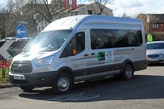 Dorset Vehicle Rentals VX17 LWK, Ford Transit outside Cheltenham racecourse (majorcatransport) Tags: cheltenham fordtransit ford dorsetbuses dorsetvehiclerental
