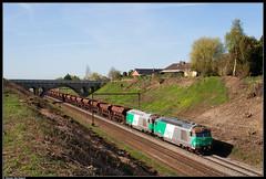 SNCF 467494 + 467544 @ Braine le Comte (Steven De Haeck) Tags: brainelecomte hainaut henegouwen belgië belgique lijn96 captrain sncf fret 67400 67000 ballast ballasttrein tergnier quenast brug goederentrein cargo trémies diesel