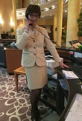 Reception desk lady (Marie-Christine.TV) Tags: feminine transvestite lady mariechristine receptionist empfangsdame secretary sekretärin tgirl tgurl sexy skirtsuit kostüm stockings nails glamour female woman service
