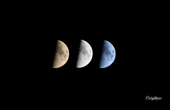 Shades of the Moon (FischyBizness Photography) Tags: moon lunar shades colors space astronomy
