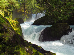 Spirit Falls Hike in WA (Landscapes in The West) Tags: spiritfalls hike littlewhitesalmonriver columbiarivergorge washington earthday pacificnorthwest waterfall river stream forest nature landscape