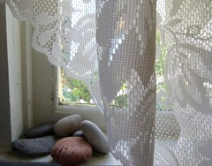 Stones & Lace (Room With A View) Tags: studio window curtain stones rocks odc
