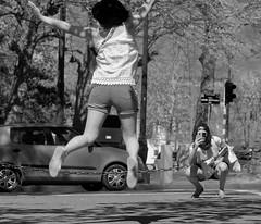 Le saut - The jump (p.franche Sick - Malade) Tags: streetshot snapshot jump saut homme men man parc park sony sonyalpha65 objectifminolta minoltalens minolta beercan vintage hdr dxo photolab bruxelles brussel brussels belgium belgique belgïe europe pfranche pascalfranche schaerbeek schaarbeek yourbestoftoday parcjosaphat josaphatpark monochrome noiretblanc blackandwhite zwartwit blanconegro schwarzweis μαύροκαιάσπρο inbiancoenero 白黒 黑白 чернобелоеизображение svartochvitt أبيضوأسود mustavalkoinen שוואַרץאוןווייַס bestofbw woman frau 女子 여성 kvinde mujer nainen γυναίκα אישה امرأة nő wanita bean kona donna 女 kvinne kobieta mulher женщина kvinna žena หญิง đànbà vrouw