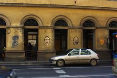 Budapest Street Art (M_Swanson) Tags: motion graffiti budapest hungary yellow americanpsycho movement inmotion streetart art