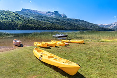 Yellow boats (E.K.111) Tags: landscape lake patagonia mountains yellow neuquén argentina ar