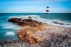 Black Point, Penmon (urfnick) Tags: waves lighthose wales anglesey le longexposure canon 1300d eos pebbles sundaylights