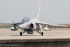 36-5706 Kawasaki T4 Japan Self Defence Force Tsuiki Air Base RJFZ 10.04-18 (rjonsen) Tags: plane airplane aircraft aviation military trainer fighter jet taxying