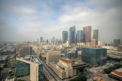 A foggy Los Angeles morning (ap0013) Tags: los angeles city california skyline losangeles ca cali cityscape hall cityhall fog foggy morning la losangelescalifornia losangelesskyline aerial
