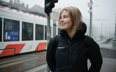 Foggy morning. (PeeterTomson) Tags: fujifilm xa1 fujifeed 25mm f18 discover urban explore light tallinn estonia spring fog portrait girl