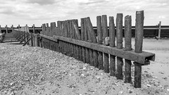 APR 16 18 - WALCOTT-8131 (mrstaff) Tags: april162018 beach cloudy coast eastofengland groyne martinstafford norfolk rocks seadefences seascape shore sunnyintervals tide walcott waves woodenstructures