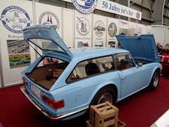 Triumph TR6 Schooting Brake (911gt2rs) Tags: messe event show youngtimer roadster kombi wagon sportwagen blau blue hellblau