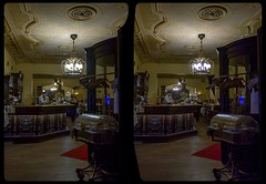 Vintage restaurant in Berlin 3-D / CrossView / Stereoscopy / HDRaw (Stereotron) Tags: berlin spreeathen mitte metropole hauptstadt capital metropolis brandenburg city belleepoque urban berlinmitte vintage restaurant nighttime cross eye view xview crosseye pair free sidebyside sbs kreuzblick bildpaar 3d photo image stereo spatial stereophoto stereophotography stereoscopic stereoscopy stereotron threedimensional stereoview stereophotomaker photography picture raumbild twin canon eos 550d remote control synchron kitlens 1855mm 100v10f tonemapping hdr hdri raw availablelight
