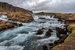 Foss (geraintparry) Tags: iceland landscape sky clouds waterfall waterfalls foss river fall mountain mountains rapids rapid blue white rock rocks