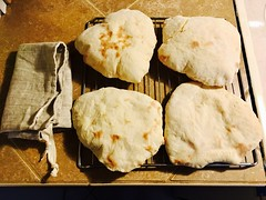 Pita Bread! (simbajak) Tags: pita baked pocket linen bread bag drawstring rack