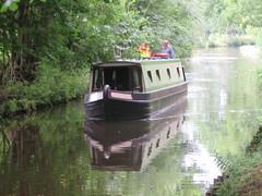 UK - Wales - Denbighshire - Near Chirk - Narrow boat on Llangollen Canal (julesfoto3) Tags: uk wales centrallondonoutdoorgroup clog denbighshire chirk deevalley shropshireunioncanal llangollencanal narrowboat