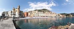 Camogli [Italy] [Explore n°79 du 02.08.2018] (Vins 64) Tags: explore camogli panorama panoramic italy italia port harbour harbor beach sea mer church