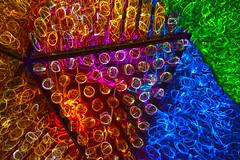 Festival of LED Lights - Phoenix Desert Botanical Gardens (oybay©) Tags: desertbotanicalgardens dbg phoenix arizona cactus cactusgarden festivaloflights led light lights color colors colorful ledlights macro upclose longexposure stunning beautiful unique triangle triangles optical optics