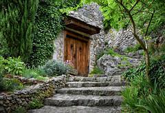 Wooded Pathway (Jocelyn777) Tags: greenery foliage green doors steps pocitelj historictowns villages towns bosniaandherzegovina balkans travel