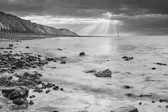 Evening monochrome on West Runton Beach (andybam1955) Tags: beach landscape coastal westrunton sky northnorfolk rural norfolk sea